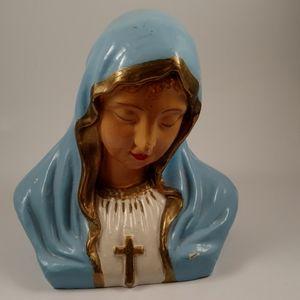 Vintage Spiritual Religious Madonna Headbust